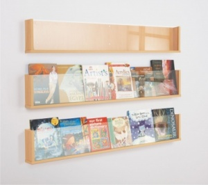 Shelf Style Wall Mounted Literature Display Signs 4 Schools